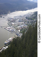 Juneau from the top of Mount Roberts - Holland America\'s...