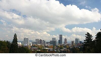 Portland Cityscape in Fall 2160p