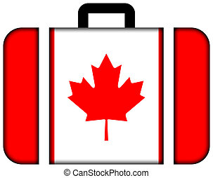 Suitcase with Canada Flag