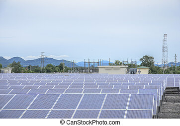 Solar farm panels - Energy from the sun
