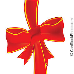 Christmas Box - The ribbon from a christmas gift isolated...