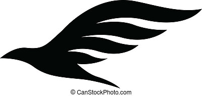 Black Bird Icon - Illustration of Black Bird Icon isolated...