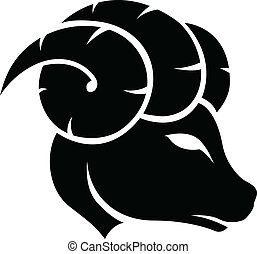 Black Aries Zodiac Star Sign - Illustration of Black Aries...