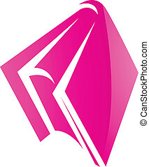 Pink Glossy Book Icon