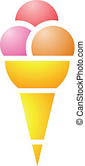 Ice Cream Cone - Illustration of Ice Cream Cone isolated on...