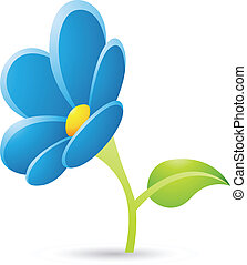 Blue Flower Icon - Illustration of Blue Flower Icon isolated...