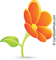 Orange Flower Icon