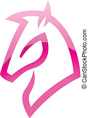 Pink Glossy Horse Icon - Illustration of Pink Glossy Horse...