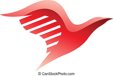 Red Bird Icon - Illustration of Red Bird Icon isolated on a...