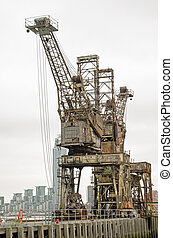 Disused Cranes, Battersea Power Sta - Two cranes used to...