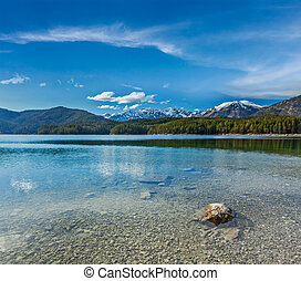 Eibsee lake, Germany - Eibsee lake Bavaria, Germany