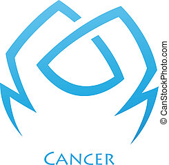 Simplistic Cancer Zodiac Star Sign - Illustration of...