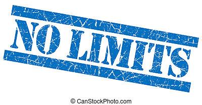 No limits grunge blue stamp