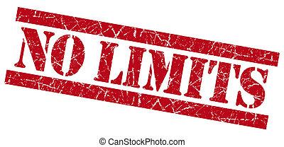No limits grunge red stamp
