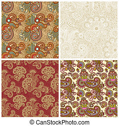 collection of seamless wallpaper, vector background