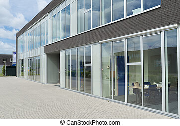 modern office building - exterior of a small modern office...