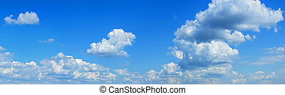 Blue sky panorama - Wonderful clouds against blue sky...