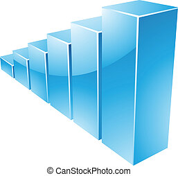 Blue Glossy Stats Graph - Illustration of Blue Glossy Stats...