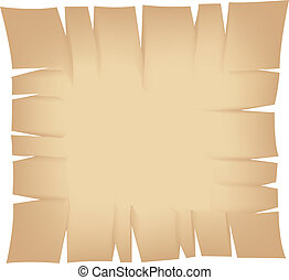 Square Beige Torn Banner - Illustration of Square Beige Torn...