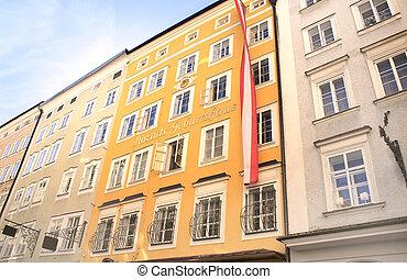 Famous House where Mozart was born, Salzburg, Austria