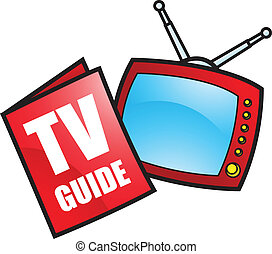 TV Guide and Television - Illustration of TV Guide and...