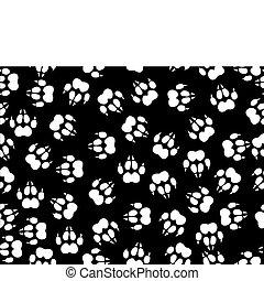 wolf foils - seamless illustration of wolf foils over black