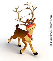 reindeer on blank - 3d rendered illustration of reindeer