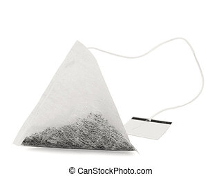 tea bag - single tea bag against the white background