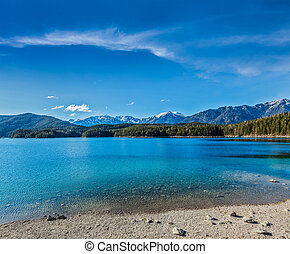 Eibsee lake, Germany - Eibsee lake. Bavaria, Germany