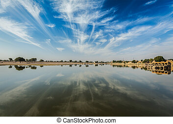 Gadi Sagar - artificial lake Jaisalmer, India - Gadi Sagar -...