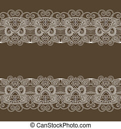 ornament floral background with lace for your design