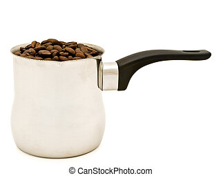 Turkish percolator with coffee beans - phorto of Turkish...