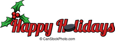 Hockey Happy Holidays - Happy Holidays with a hockey puck...