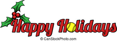 Softball Happy Holidays