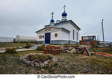 Russian Orthodox Church, Khuzir, Olkhon, Russia - Small...
