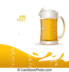 Beer mug background for text - Vector background