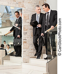 Two businessman having discussion