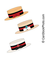 strawboater hats - straw boater hats in various styles from...