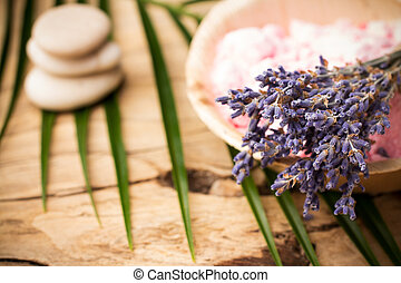Aromatherapy - Spa accessories, body scrub with bath salt...