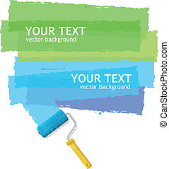 Vector roller brush background for text