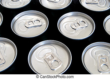 beer cans - a beer cans close up