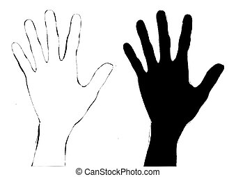 silhouette hands design