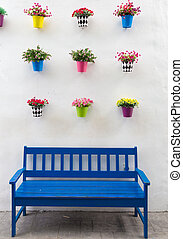 Flower pot with chair