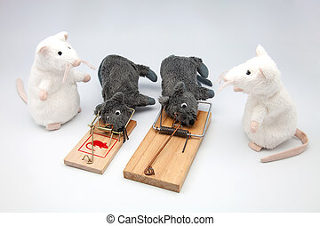 four mice and two mousetraps