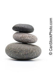 Spa stones. - Spa stones and isolated background.