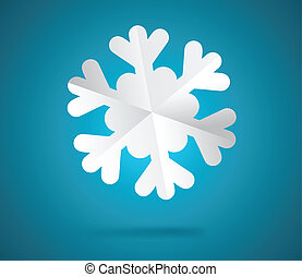 Paper snowflake - Christmas background Paper cut and folded...