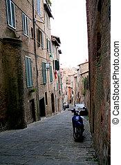 Siena - Narrow street of Siena, Italy