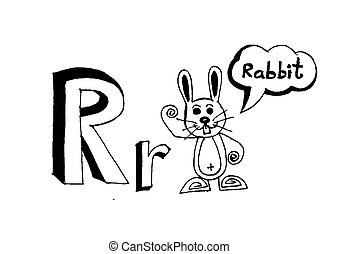 cartoon text font Hand drawing vector letters