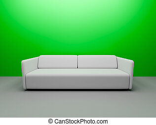 interior scene of couch