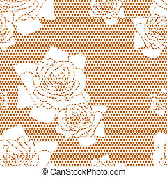 Lace vector fabric seamless pattern - Lace vector fabric...